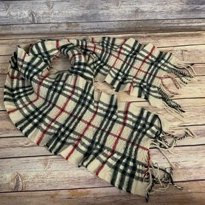 Burberry Ruched Check Cashmere Scarf